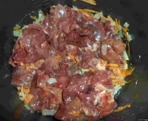 Жаркое из куриной печени - фото шаг 2