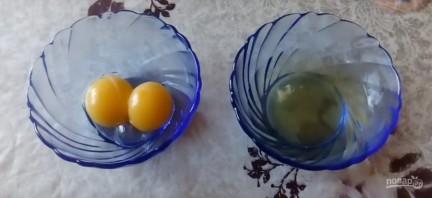 Рецепт шоколадного пирога с творожными шариками - фото шаг 1