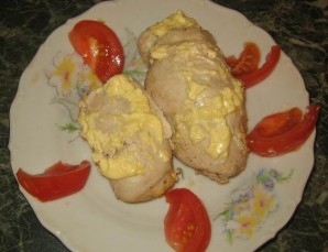 Рулет куриный с грибами и сыром - фото шаг 11