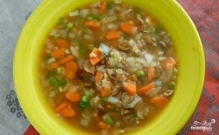 Грибной суп для похудения - фото шаг 5
