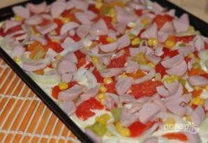 Тесто из кефира для пиццы - фото шаг 5