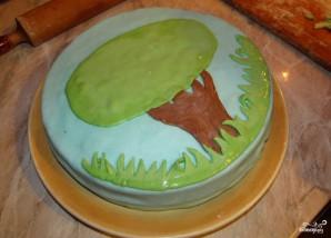 Детский торт с мастикой своими руками - фото шаг 6
