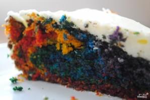 Торт Радуга с пищевыми красителями - фото шаг 8