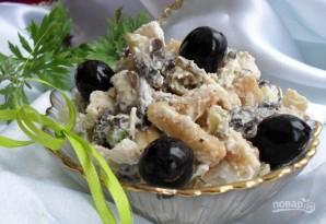 Салат с грибами маринованными - фото шаг 3