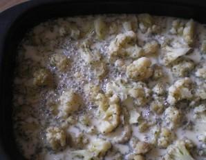 Омлет с цветной капустой в духовке - фото шаг 4