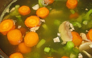 Диетический сырный суп - фото шаг 4