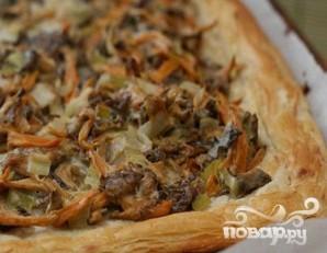 Пирог с лисичками и картофелем - фото шаг 6