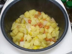 Тушеные овощи кусочками - фото шаг 5