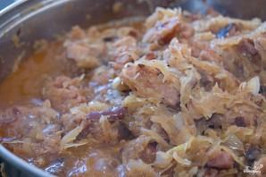 Тушеная капуста с колбасой - фото шаг 3