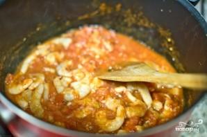 Паста с помидорами и креветками - фото шаг 5