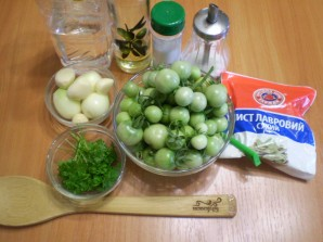 Закатка зеленых помидоров на зиму - фото шаг 1
