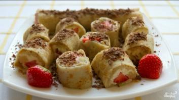 Блинчики с фруктами и мороженым - фото шаг 4