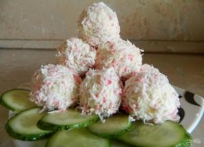 Сырные шарики с крабовыми палочками - фото шаг 4