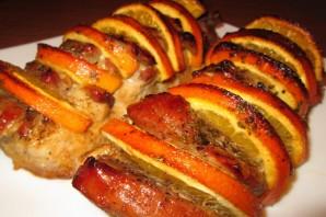 Мясо с апельсинами в духовке - фото шаг 6