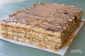 "Торт ""Сникерс"" с арахисом - фото шаг 14"