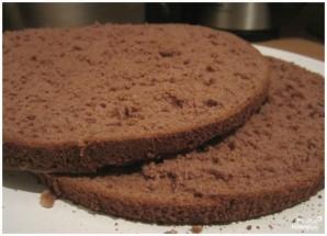 Бисквитный торт с вишней - фото шаг 3