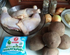 Жаркое в духовке с курицей - фото шаг 1
