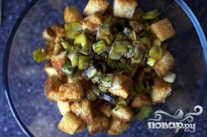 Пудинг из лука и хлеба - фото шаг 3
