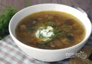 Суп с лесными грибами - фото шаг 12