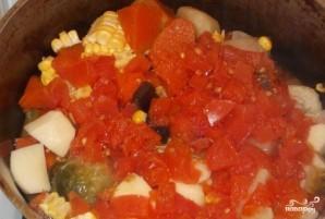 Тушеная тыква с овощами - фото шаг 5