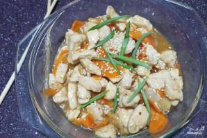 Курица в кисло-сладком соусе с кунжутом - фото шаг 7
