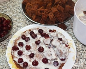 Домашний торт с вишней - фото шаг 7