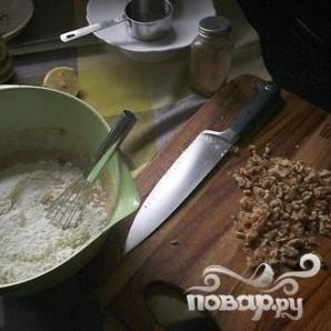 Грушевый хлеб с орехами и клюквой - фото шаг 3