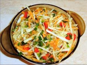 Салат из свежей капусты и болгарского перца - фото шаг 7