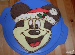Торт в виде Миккимауса - фото шаг 4