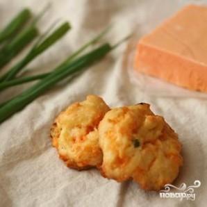 Сырные пуфы с зеленым луком - фото шаг 3