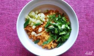 Салат с красной чечевицей - фото шаг 3