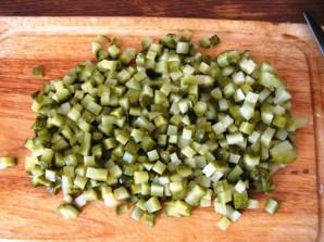 Салат в хлебной корзинке - фото шаг 3