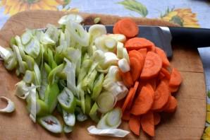 Острая свинина с овощами в мультиварке - фото шаг 1