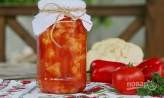 Капуста, маринованная в томатном соке - фото шаг 6