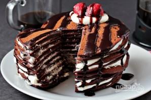 Торт из шоколадных блинчиков - фото шаг 7