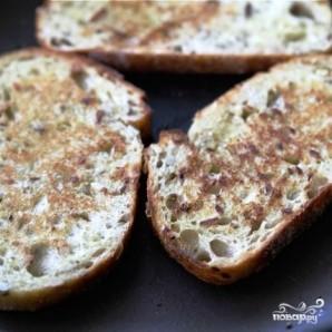 Открытый бутерброд с запеченными помидорами, сыром и бальзамическим уксусом - фото шаг 6