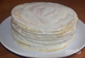 Торт на сковороде со сметаной - фото шаг 5