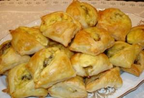 Закусочные пирожки с грибами и сыром - фото шаг 5