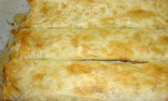 Армянский лаваш с сыром в духовке - фото шаг 3