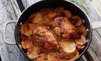 Картофельная запеканка с куриным филе - фото шаг 4