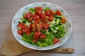 Греческий салат классический - фото шаг 3