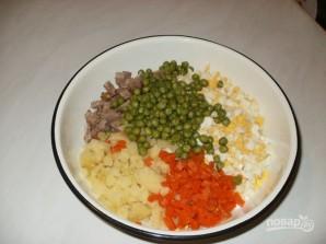 Столичный салат классический с говядиной - фото шаг 3