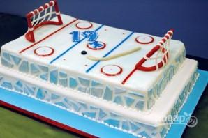 Торт с хоккейной тематикой - фото шаг 2