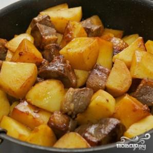 Тушенная утка с баклажанами и картофелем - фото шаг 9