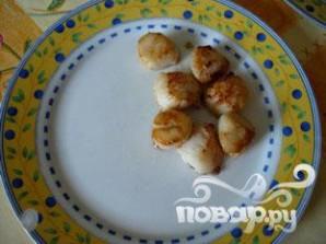 Морские гребешки с фондю из лука-порея - фото шаг 5