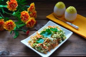 Салат с перцем и сыром - фото шаг 6