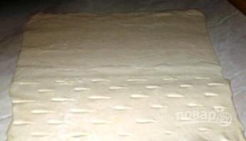 Слоеное бездрожжевое тесто с вишней - фото шаг 1