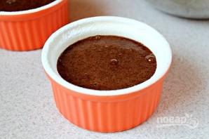 Шоколадный фондан с кофе - фото шаг 6