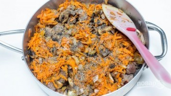 Гречка с грибами и мясом - фото шаг 6