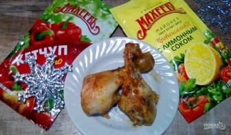 Куриные голени, запечённые в рукаве в майонезом соусе на праздник - фото шаг 5